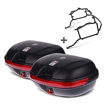 Juego de maletas laterales Set Suzuki Bandit 650 07-11 Givi Monokey E360N negro: Amazon.es: Coche y moto