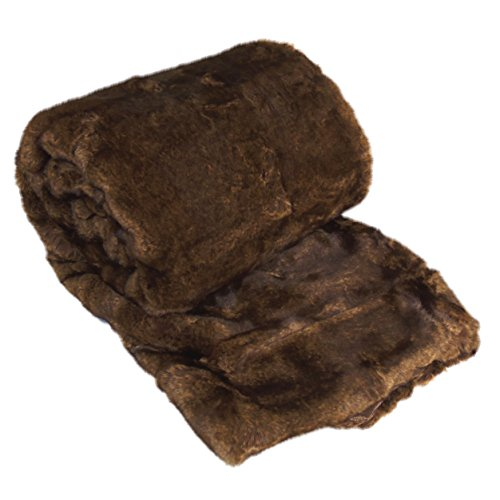 Home Soft Things Oversized Luxury Faux Fur Throw, Beaver, 50