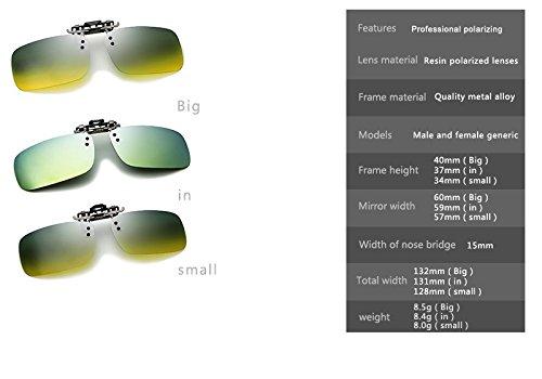 Gafas TAC Gafas Noche Blue Size de nuevos In Hombres Día Clip anteojos Nocturna Blue polarizadas de conducción visión de y Lens Sol de Más Gafas Yumeik Color miopía en Lens HzwaRq
