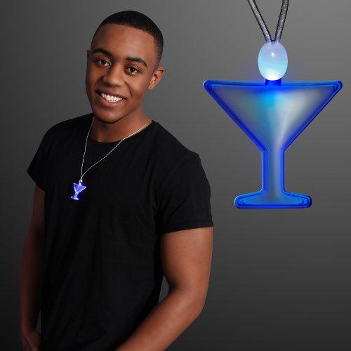 Blue Martini Light Up Necklaces (Set of