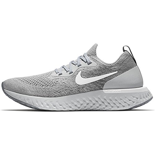 Femme Nike Basses Multicolore Grey wolf white 001 Sneakers Wmnsepic Grey Flyknit React cool wqgrXRgA