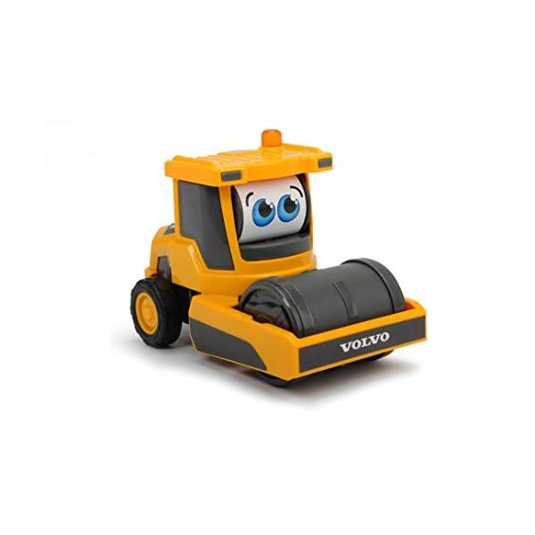 Dickie-Toys-Happy-Series-Volvo-Moving-Eyes-Caricatore-Compattatore-Volvo-Escavatore-giocattolo-con-pala-caricatrice-o-rullo-2-Modelli-Assortiti