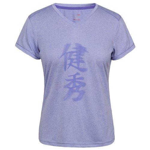 Li Ning T- Shirt A258 - Camiseta de fitness morado