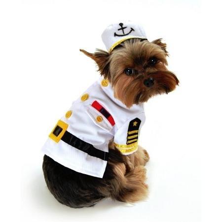 Sea Dog Costumes (Sea Captain Dog Costume - Extra Small)