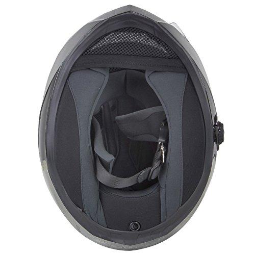 Hawk H-510 Glossy Black Bluetooth Full Face Helmet - Small by Hawk Helmets (Image #7)