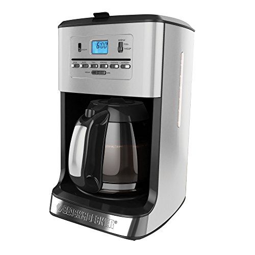 Black & Decker CM3005S 12-Cup Tea and Coffeemaker, Silver