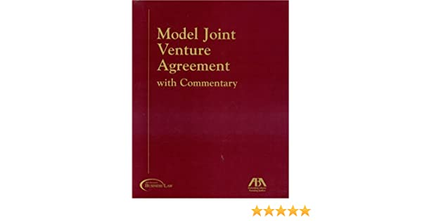 AmazonCom Model Joint Venture Agreement With Commentary