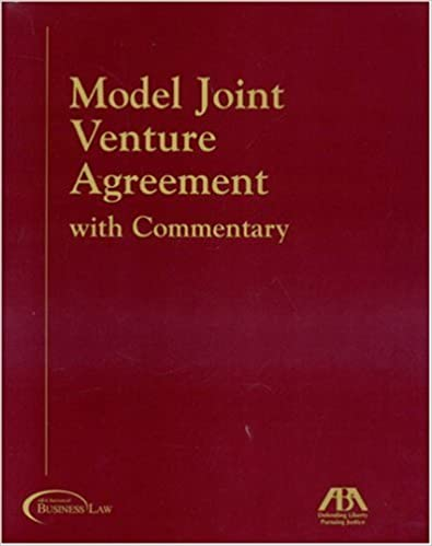 Amazon.Com: Model Joint Venture Agreement With Commentary