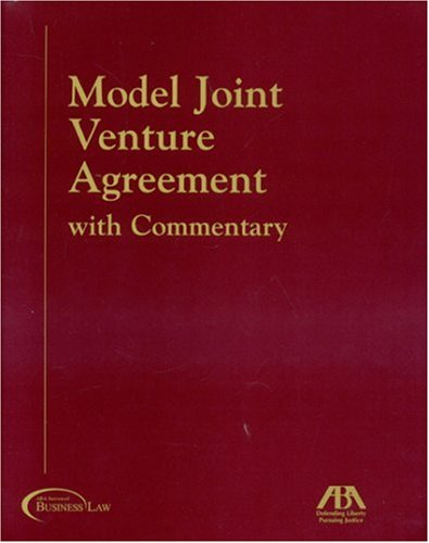 Model Joint Venture Agreement With Commentary Buy Online In Uae