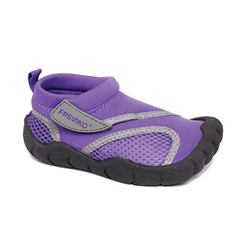 Fresko Toddler Water Aqua Shoes with Toes, T1031, Purple, 8 M US Toddler