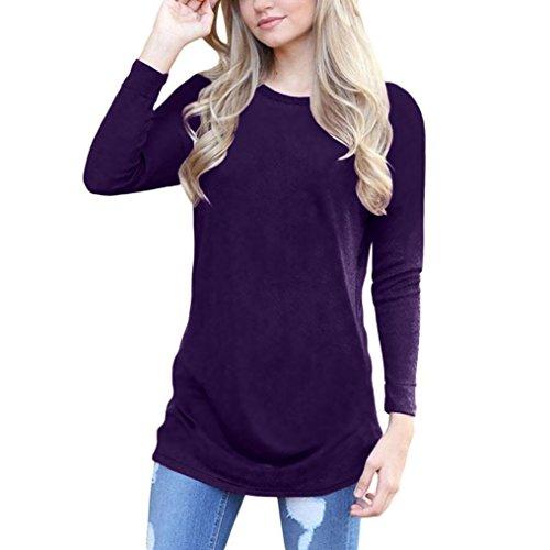 FORUU Winter Fleece Long Sleeve Knitted Sweater Long Blouse ()