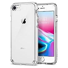 Spigen Ultra Hybrid [2nd Generation] Designed for Apple iPhone 7 Case (2016) / Designed for iPhone 8 Case (2017) - Crystal Clear