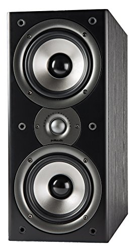 Polk Audio Monitor 40 Series II Bookshelf Speaker - Big Sound, High Performance | Perfect for Small or Medium Size rooms | Black, Single