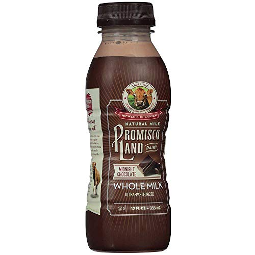 Promised Land Midnight Chocolate Whole Milk, 12 Fluid Ounce -- 9 per case.