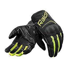 Raida AqDry Waterproof Motorcycle Gloves (L, Hi-Viz)