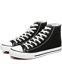 Men's High Top Canvas Sneakers Fashion Lace up Walking Shoes Casual Classic