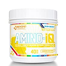 Beyond Yourself - Amino-IQ - Sport Supplement Branched Chain Amino Acids ( Bcaa ) Powder & Cognitive Enhancing Nootropic Formula - Added Caffeine Anhydrous, Lion's Mane & Black Pepper extract (Banana Ice Pop, 40 Servings)