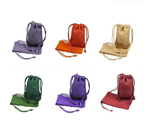 Custom Printed Burlap Drawstring Bags - 6
