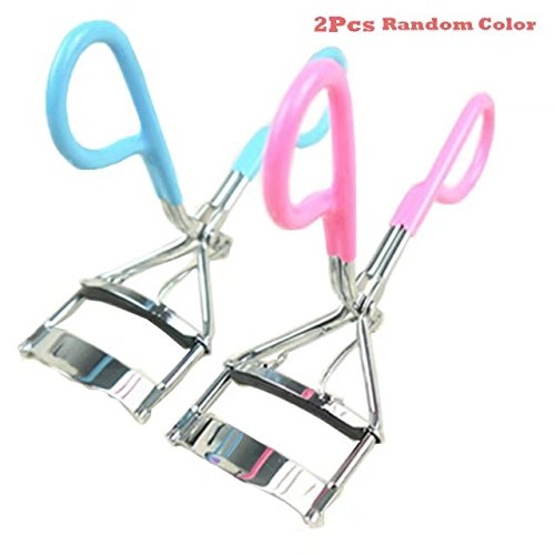 Garrelett 2 Pcs Eyelash Curlers   Professional Stainless Steel Makeup Eyelash Clip Tools With Refill Silicone Pads For Curling Lashes  Pink
