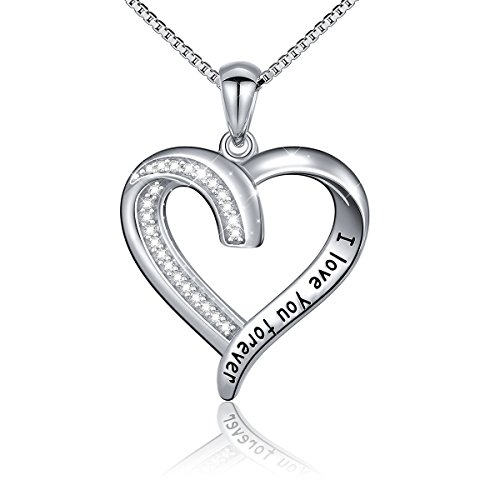 s925-sterling-silver-i-love-you-forever-pendant-necklacebox-chain18-inches