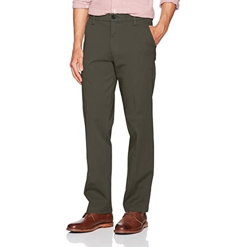 Dockers Workday Khaki Chino Straight Fit Mens Ombre Blue Pants 360 Flex New $66
