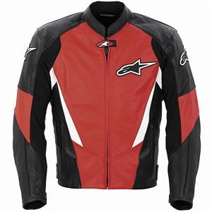 753d85633 Amazon.com: Alpinestars Stage Perforated Leather Jacket - 46/Red ...