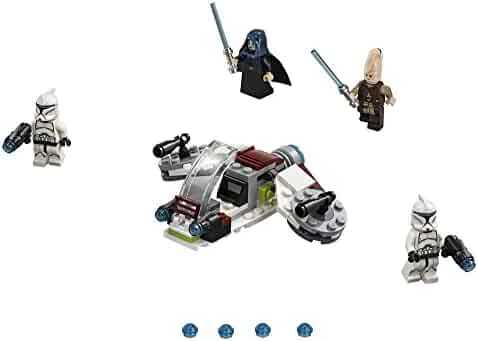 LEGO Star Wars Jedi and Clone Troopers Battle Pack 75206 Building Kit (102 Piece) Stacking Toys