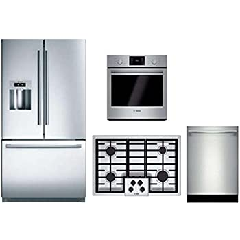 Amazon Com Bosch 4 Piece Stainless Steel Kitchen Package