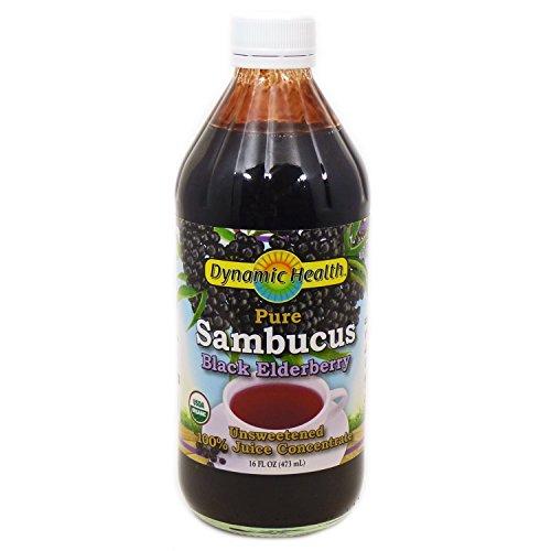 Sambucus Black Elderberry Certified Organic Dynamic Health 16 oz Liquid
