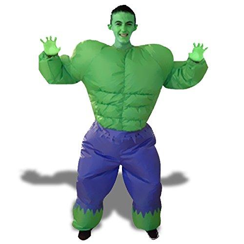 Hulk costume inflatable suit super heros