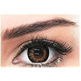 Bella Snow White Unisex Cosmetic Contact Lenses - Brown - [ BL-SW-BRW Power 0.00]