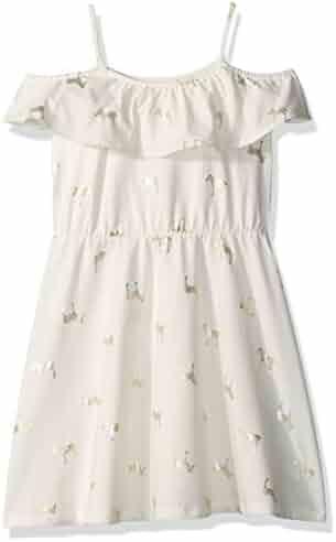 The Children's Place Toddler Girls' Her Li'l Foil Cold Shoulder Dress