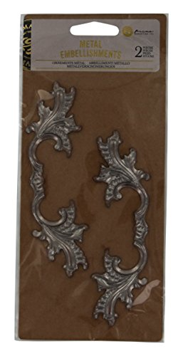 Metal Art Embellishments - Prima Marketing 655350583088 Metals for Wood Plaque 3 Scrapbooking Embellishments