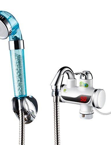 Calentadores de agua eléctricos Digital grifo doble efecto frío caliente para ducha x2
