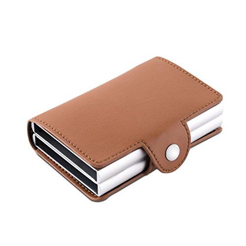 RFID Blocking Aluminum Credit Card Money Clip Automatic Pop Up Slide Out Front Pocket Wallet Holds 12 (Front Slide Pocket)