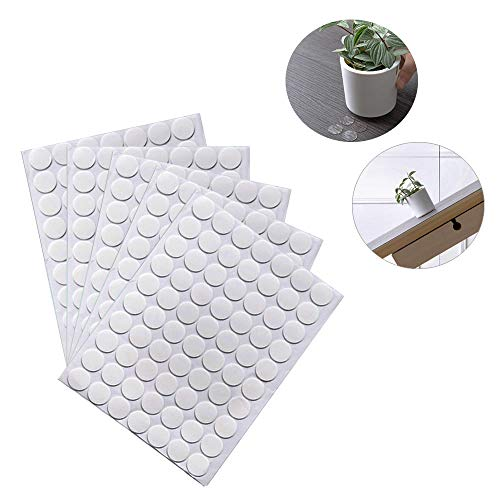 BUSOHA Clear Removable Sticky Adhesive Putty, Reusable Transparent Double-sided Round Nano Gel Mat for Wall, Metal, Glass, Ceramic, Wood - 350 PCS (Putty Quakehold Museum)