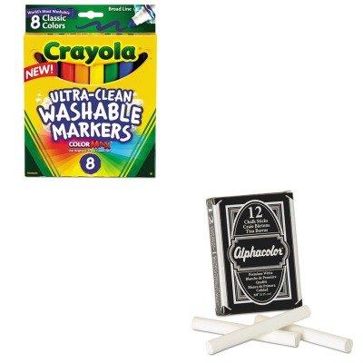 KITCYO587808QRT314005 - Value Kit - Quartet Alpha Nontoxic Low Dust Chalk (QRT314005) and Crayola Washable Markers (CYO587808) ()