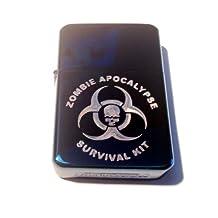 Vector KGM Thunderbird Custom Lighter - Biohazard Toxic Zombie Apocalypse Survival KIT Skull Seal Logo Sapphire Blue Sparkle High Polish Chrome Rare!