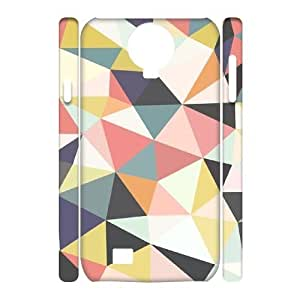 Tony Diy Custom SamSung Galaxy S4 I9500 case cover, Zyoux DIY Brand New 3D SamSung Galaxy S4 I9500 case cover EgkyaDTTS0E - Colorful Geometric Mosaic