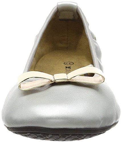 Butterfly Twists Chloe Plata Negro Mujeres Ballerinas Flats Zapatos