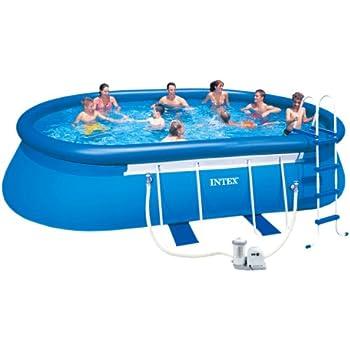 Intex 20 feet by 12 feet by 48 inch oval - Intex oval frame pool ...