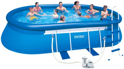 Intex 20-Feet by 12-Feet by 48-Inch Oval Frame Pool Set, Appliances for Home