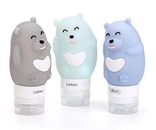 Travel Bottles,Lovely Bearlike Leak-Proof Food-Grade Silicon