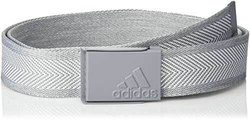 adidas Golf Heather Webbing Belt, White/Grey Three, One Size