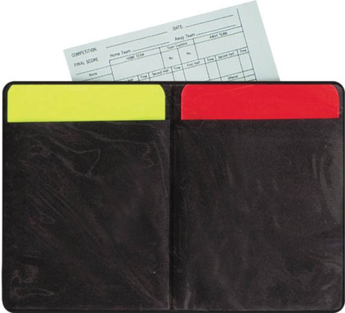 Accessories Unlimited Soccer Referee Warning Card Set