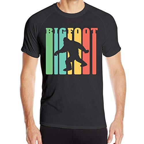 1970 Retro Jersey (Men's Classic Vintage Retro 1970s Rainbow Bigfoot Short-Sleeved 100% Polyester Sports T-Shirts)