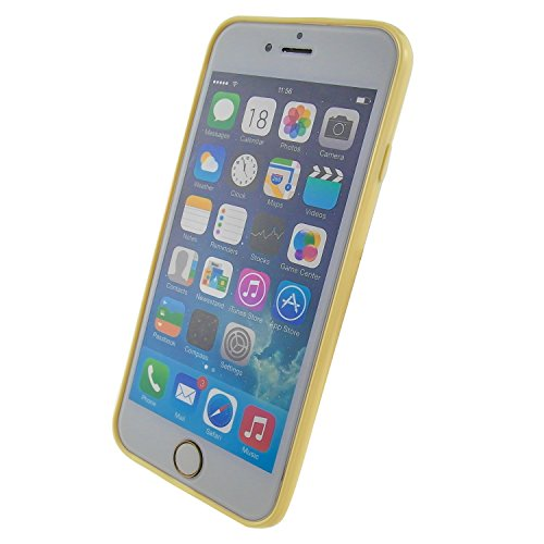 """iPhone 6 Case, Innolife Essential Slim Perfect Fit 360 degree Colored Bumper Protection Matte Transparent Back TPU Soft Skin Cover Case for 4.7 inches iPhone 6 - 4.7"""" only (Cream Yellow)"""