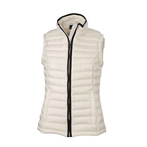 Duvet Blanc Sans James amp; Gilet Nicholson Femme Matelassé Cassé Manches Jn1079 nwqpYfCq