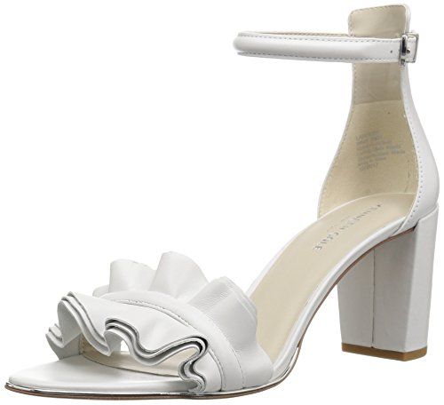 Kenneth Cole New York レディース Langley Ankle Strap Sandal with Ruffle Detail on Front Strap