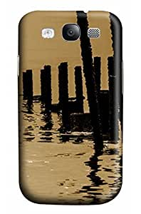 Cute Wood under the Sunset Designed PC Materical DIY Phone Case for Samsung s3/i9300